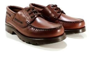 Zapato Hombre Cuero Marrón Diseño Leñador By Ghilardi