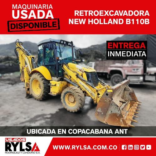 Retroexcavadora B110b - Pajarita - New Holland Usada