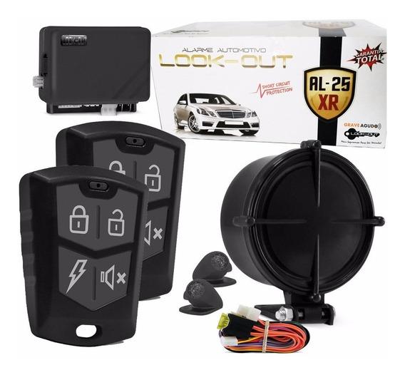 Blocar + Alarme Al-25xr Lookout Com 2 Controles E Ultra-som