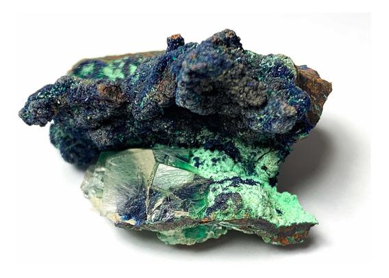 Mineral De Colección Azurita Con Malaquita Durango Mexico