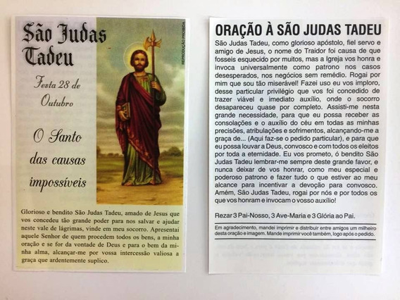 500 Fls Santinho Oração De Promessa São Judas Tadeu