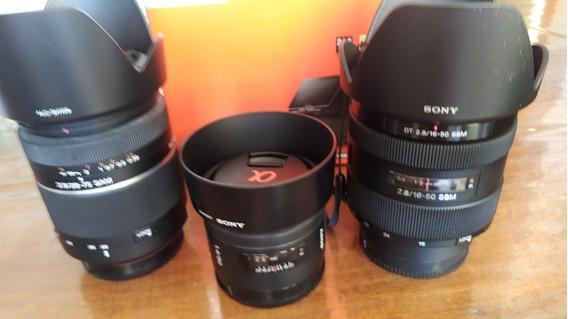 Kit De Lente Sony Alpha A-mout 50mm ,28-75mm ,16-50mm