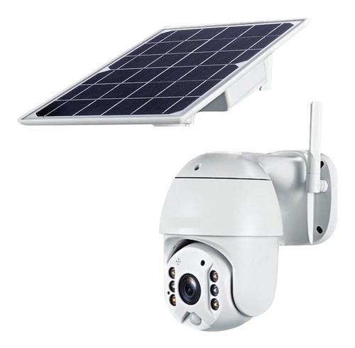 Cámara Robótica Solar Doble Antena 1080p Ptz Visión Nocturna
