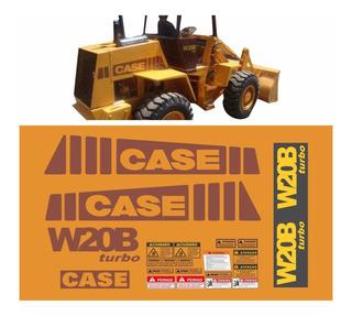 Kit Adesivo Pá Carregadeira Case W20b Turbo + Etiquetas Mk