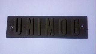Unimog 416 - 421 Insignia Palabra Aluminio Parrilla Frontal