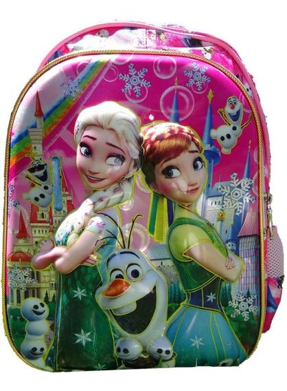Mochila Infantil Con Luces! Frozen Elsa Olaf Ana En Pilar