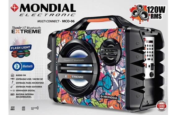 Caixa De Som Amplificadora 120 Watts Rms - Mco-06 Mondial