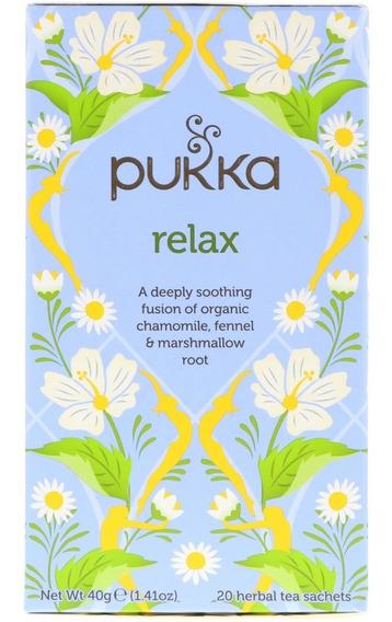 Té Relax Tranquilo Pukka Orgánico Sin Cafeína Sustentable