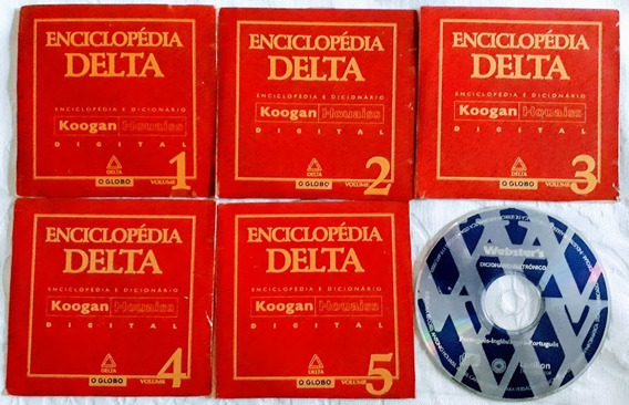 Cd Rom 5 Vol Enciclopédia Delta Digital Koogan Houaiss Globo