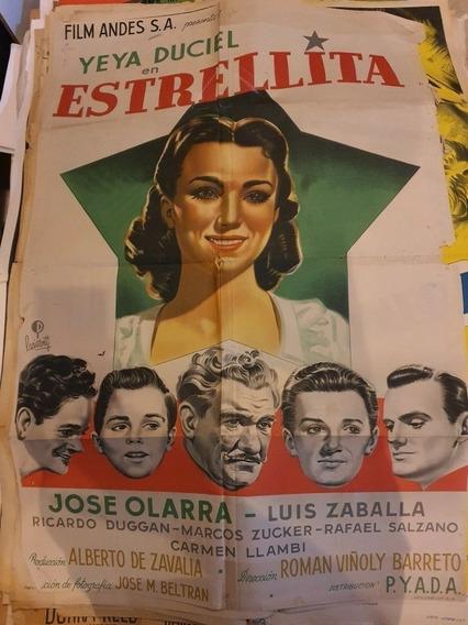 3 Antiguos Afiches De Cine-lote De 3 Originales--oferta 1