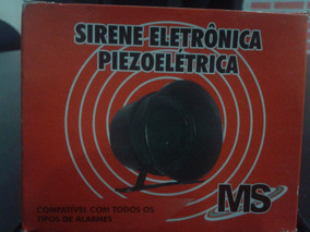 Sirene Eletronica Piezoeletrica 120db