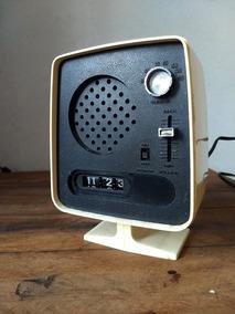 Radio Sony C/ Relogio Mecanico 70 Fita Disco Som Valvula