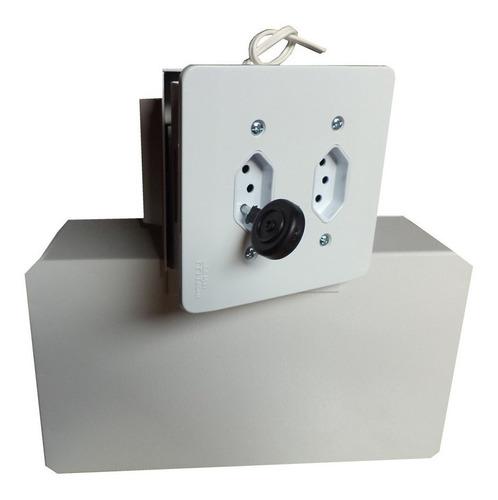 Imagem 1 de 10 de Cofre Invisível Embutir C/tomada. Elétrica  Funcional