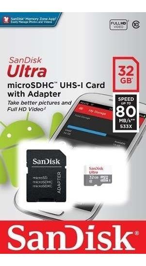 Sandisk Sdhc Ultra 32gb Sd 80mb/s Classe 10 Original Hero