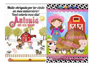 30 Revistas De Colorir Personalizadas 15 X 21 Cm *