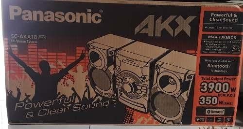 Equipo De Sonido Panasonic Sc-akx18 3900w Con Bluetooth