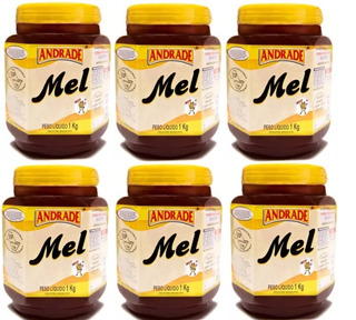 Kit Com 6 Potes Mel Puro 1kg - Natunectar 100% Puro