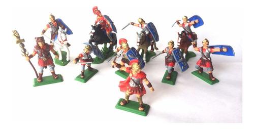 Set De Romanos X 10 Soldaditos Pintados A Mano!