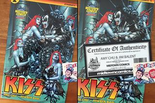 Comic - Kiss #1 Jim Balent Firmado Amy Chu Coa