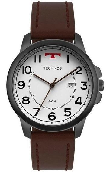 Relógio Technos Masculino Executive Grafite T30 Couro