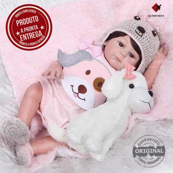 Promoção - Boneca Bebê Reborn 48cm Silicone + Acessórios