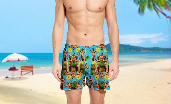 Short Moda Praia Mauricinho Arnold Schwarzenegge Ref 80