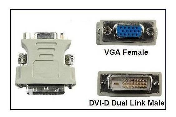 Adaptador Dvi D Para Vga P/ Placa De Video Monitor, Projetor