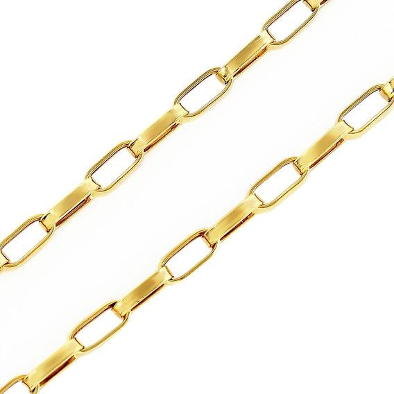 Cordão Corrente Grosso Masculino Ouro 18k 60cm Oferta