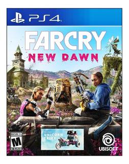 Farcry New Dawn Ps4 Fisico Incluye Trirrueda Unicornio