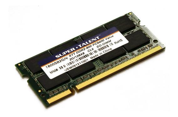 Memoria Ram 2gb Ddr2 800mhz Pc2-6400 Sodimm Super Talent