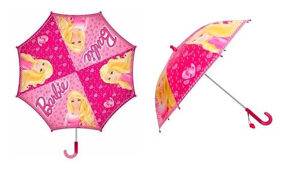 Paraguas Infantil Automático Barbie Original
