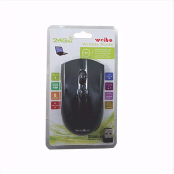 Wireless Mouse Sem Fiooptico Usb Computador Pilha Sensor