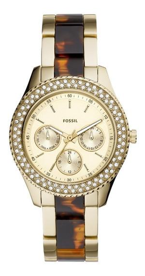 Relógio Fossil Feminino Cronógrafo Dourado Es4756/1dn