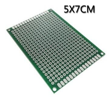 Placa Dupla Face 02 Pçs Fibra Perfurada Arduino 5x7 Cm Carta