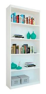Biblioteca Diseño Juvenil Con 4 Estantes 75x180 Blanca