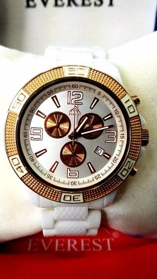 Everest Relógio Masculino Porcelena Á Prova D´água