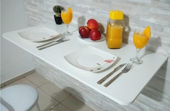 Mesa De Parede Dobrável-100cx50l Mdf P/cozinha, Apartamento