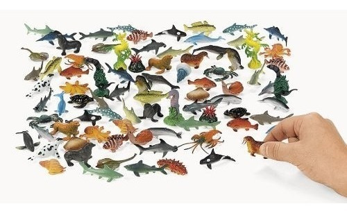 Debajo Del Mar Plastic Sea Life Creatures 90 Pc