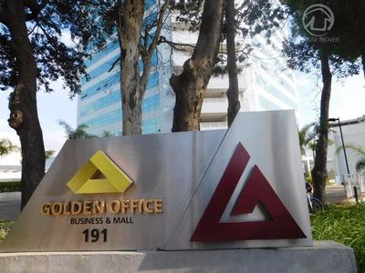 Sala Comercial De 45m² No Edifício Golden Office Em Jundiaí - Sala Com Acabamento Pronto Pronta Em Andar Alto. - Sa0308