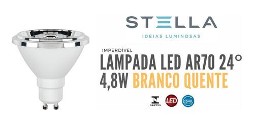 Imagem 1 de 5 de Lampada Ar70 Stella 4,8w Branco Quente 24° Gu10 - Sth8434/27