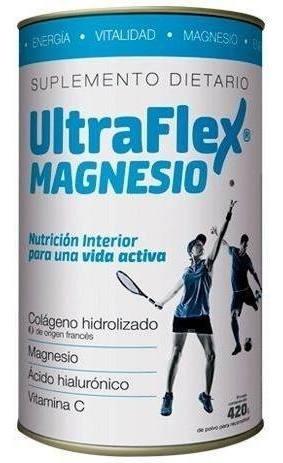 Ultraflex Magnesio Colágeno Hidrolizado En Polvo 420gr