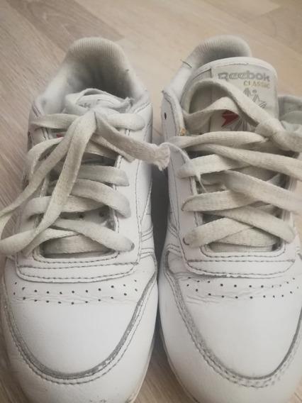 Zapatillas Reebok De Cuero Blancas De Nena