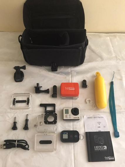 Gopro Hero Kit Completo Com Acessórios E Estojo