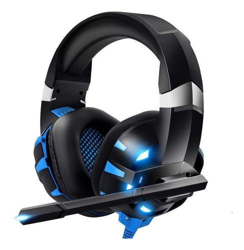 Fone Headset Gamer Para Pc Celular E Videogame K2 Pro Azul