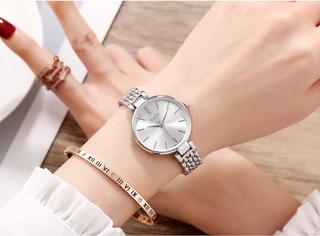 Reloj Julius Ja-960 Mujer Dama Malla Metal