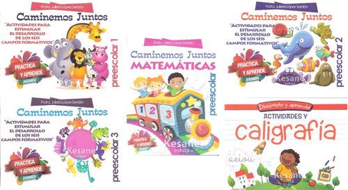 Caminemos Juntos Libros 1 2 Y 3 Preescolar Kinder Paquete