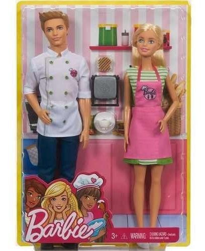 Boneca Barbie E Ken - Cozinhando E Criando - Fhp64 - Mattel