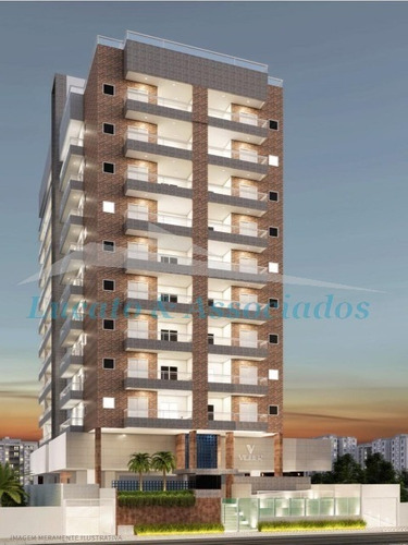 Apartamento Para Venda Na Guilhermina Em Praia Grande Sp, 01 Dormitório, Sala, Sacada Com Churrasqueira, 01 Vaga - Ap02064 - 68237198