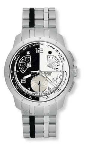 Relógio Swatch 007 Villain Collection Hugo Drax Moonraker