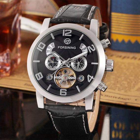 Relógio Forsining Turbilhão Automático + Relógio Southberg